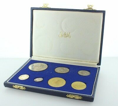 1964 South Africa 7 Coin Proof Set with Original Fliplock Case