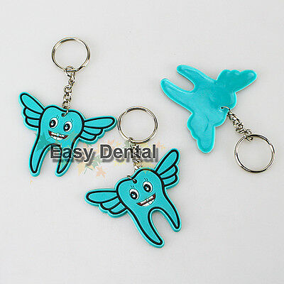 10pcs Dental Orthodontic Tooth Shape Cute Angel Keychain Dentist Great Gift NEW