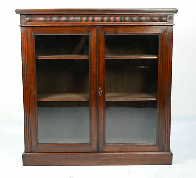 Antique / Victorian Walnut 2 Door Bookcase Circa 1890