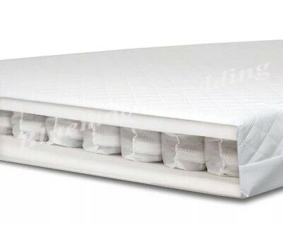 139 x 69 cm POCKET SPRING BABY MATTRESS SPRUNG & QUILTED for COT BED COTBED.