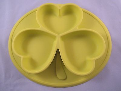 Baby Feeding Dish/Placemat -  Silicone Plate - BPA Free - Yellow - w/FREE SHIP