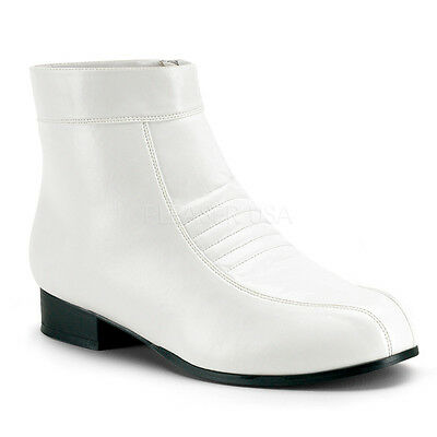 SPECIAL OFFER - White Pimp Elvis Stormtrooper Ankle Boots - Great Value