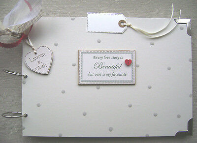 PERSONALISED. every love story A4 SIZE..PHOTO ALBUM/SCRAPBOOK/MEMORY/GUEST BOOK.