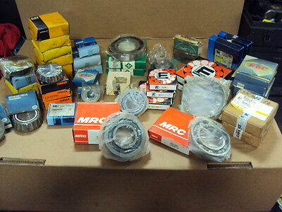 39 Piece Lot Of Various Tapered, Sealed And Ball Bearings..timken, Mrc, Cat More