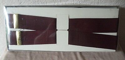 New In Box Trafalgar Classic Hudson Mens Xl Burgundy Braces Suspenders Size 00