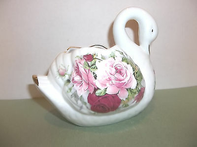 Ceramic Swan Planter Vase Figurine