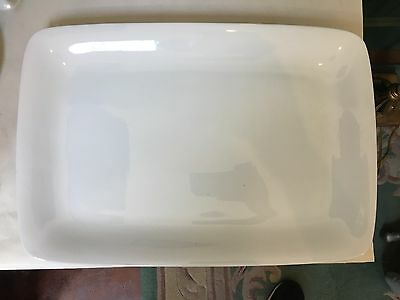 "17"" White Porcelain Serving Tray"