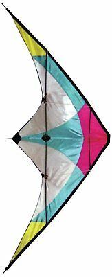 Stunt Kite - 120 x 60 cm Dual Line Kite - High Flying Kite with multi coloured -
