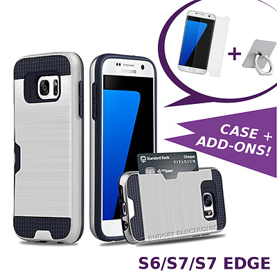 Samsung Galaxy S6 S7 S7 EDGE Hyrbid Case Shockproof Cover with Credit Card Slot