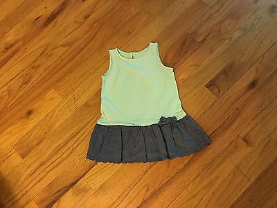 Girls babyGap dress size 3-6 months sleeveless with bow