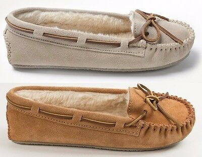 Minnetonka Women's Cally Suede Plush Moccasin Slippers Sizes 6 7 8 9 10 11