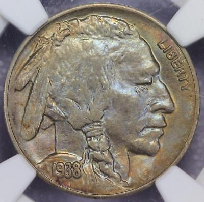 1938 D Buffalo Nickel NGC MS66 - Blue Toning - *DoubleJCoins* 585A32