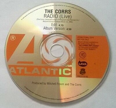 The Corrs * Radio - Live * Rare 2 Track Promo Cd 1999 Made In Usa