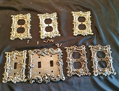 American Tack & Hardware Rose Switch plate & outlet cover lot. 7