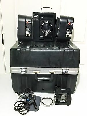 Photo Control CAMERZ ZII 70mm Long Roll Camera With Case Wires Lens & 2 Magazine