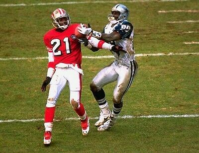 a11cae8b MICHAEL IRVIN & DEION SANDERS 8X10 PHOTO 49ers COWBOYS NFL FOOTBALL MUDDY  PICTUR