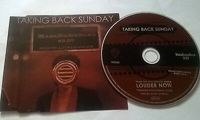 Taking Back Sunday * Makedamnsure * Rare 1 Track Promo Cd 2006 Made In The Eu