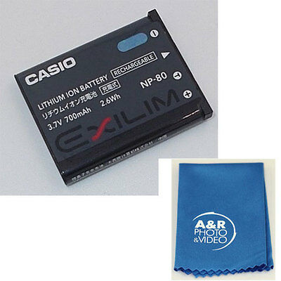 Genuine Casio NP-80 Lithium Battery for Exilim camera EX S5 S6 Z33 Z550 S7