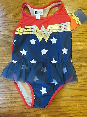cde3ffacacc Like us on Facebook · NWT BABY GAP Warner Bros WONDER WOMAN 1 pc Patriotic  WW Tutu SWIM SUIT Sz 2