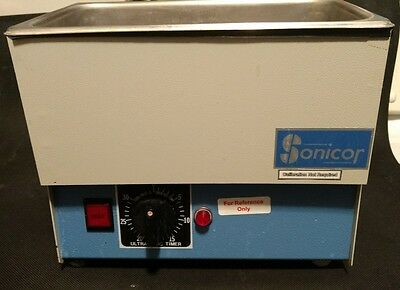 SONICOR SC-100TH Stainless Steel Ultrasonic Cleaner w/ Timer & Heater 1-Gallon