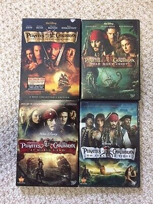 Pirates of the Caribbean Complete DVD Set 1, 2, 3 and 4