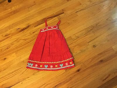 Girls Old Navy dress size 2T red w/butterflies and flowers