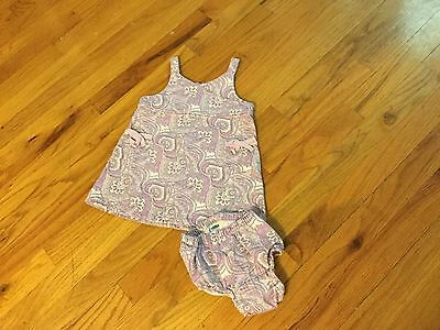 Girls Old Navy dress size 6-12 months purple sleeveless with bows