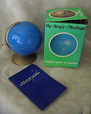 "Vtg 1970 Replogle Celestial Sphere 6"" Globe + Box + Manual"