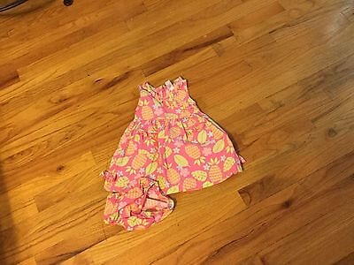 Girls babyGap dress size 3-6 months sleeveless with pineapples