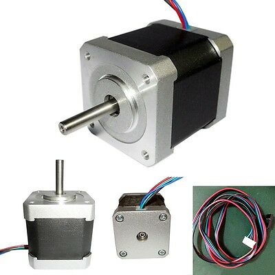 Nema 17 Stepper Motor 12Nm 1.5A 4-wire Dual Shaft DIY For CNC Mill Lathe Router