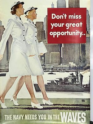 Reproduction US Navy WAVES Recruiting Poster