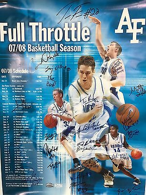 2008 US Air Force Academy Team Signed Poster