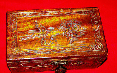 Beautiful Vintage Wooden Jewelry or Storage Box