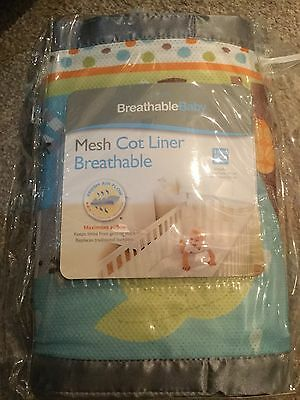 Breathable Baby Mesh Liner Airflow Cot Bumper 4 Sided Breathablebaby