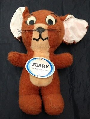 "Vtg Jerry Tom & Jerry MGM 1974 Stuffed Character Doll 13"" Original Tag RARE Toy"