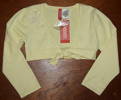 Nwt Girls Gymboree Dress Shrug Cardigan~5~Yellow Tie Front~Sweater~Dance Cover