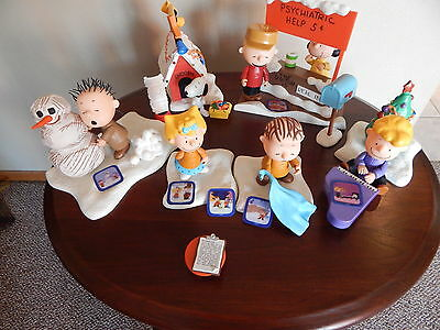"Peanut 5"" Charlie Brown & Assorted Figurines and Accessories Lot of 32 Pieces"