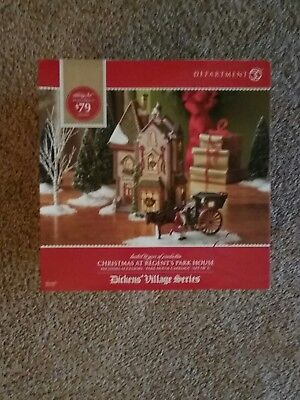 RARE Department 56 Dickens Village Christmas At Regent's Park House NEW MIB
