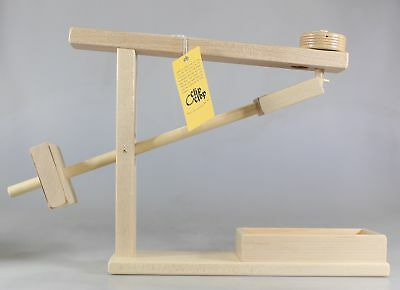 Amish Made Wooden Marble Roller Machine Toy. Lapps Toys. Free Shipping