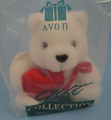 Kissing Cupid Teddy Bear with Angel Wings Played Love Me Tender Avon Gift 1997