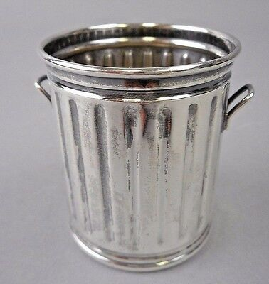 Frank W Smith silver sterling basket classic city curb can