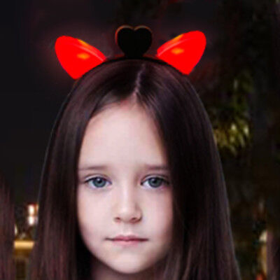 Light-Up Cat Ear Headbands Animal Ears LED Blinking Flashing Kids Headdress