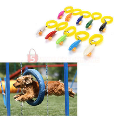1Pcs Adult Pet Dog Training Clicker Obedience Agile Trainer Aid Wrist Strap