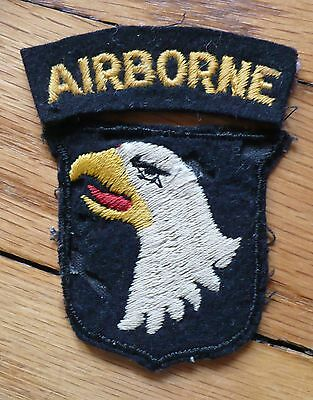 Rare WW2 US Army 101st Airborne Division English made type B-1 cut edge no glow