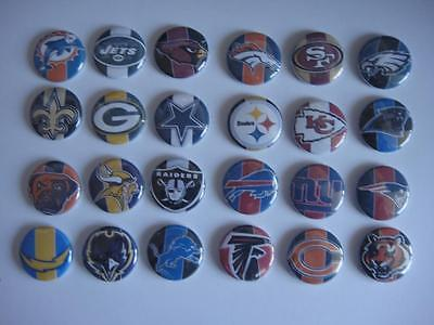 NFL Teams 24  buttons flat back or pin badge cabochons embellishments magnets