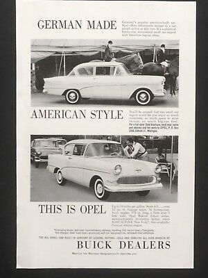 1959 Vintage Print Ad BUICK DEALERS Opel Car Image
