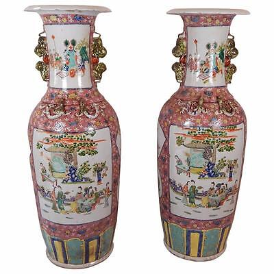 Huge Pair of Fine Quality Chinese Palace Vases