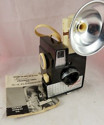 Vintage Imperial Debonair Camera with Flash and manual. Made in USA.