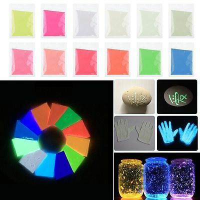 Luminous/Fluorescent Powder Super Bright Glow in The Dark Fashion Multipurpose