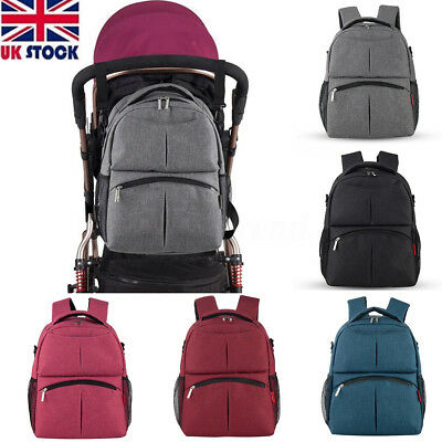 UK Baby Diaper Backpack Mummy Bag Nappy Changing Mummy Backpack  Multifunctional